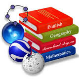 Serie di libri di diverse materie in pila